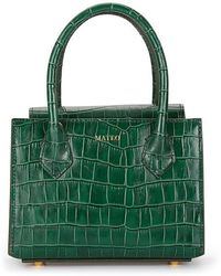 Mateo Diana Croc-effect Leather Tote - Green