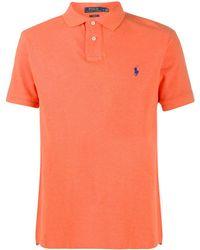 Polo Ralph Lauren ロゴエンブロイダリー ポロシャツ - オレンジ