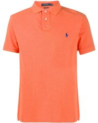 Polo Ralph Lauren Poloshirt Met Geborduurd Logo - Oranje