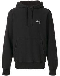Stussy Logo print hoodie - Noir