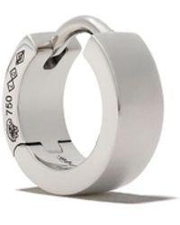 Le Gramme 18kt Polished White Gold 19/10g Ribbon Earring - Metallic
