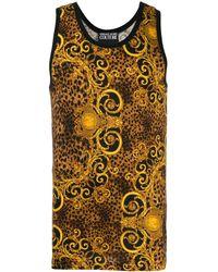 Versace Jeans Couture Weste mit Barock-Print - Mettallic
