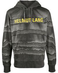 Helmut Lang Худи С Логотипом - Серый