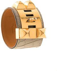 Hermès Armband mit Nieten - Mettallic