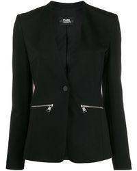 Karl Lagerfeld Блейзер Punto С Логотипом - Черный