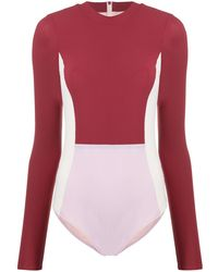 Vaara Mara Colour Block Bodysuit - Pink