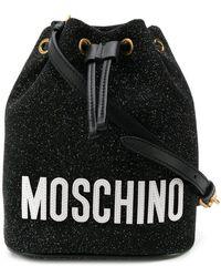Moschino - Glitter Bucket Bag - Lyst