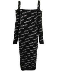 Philipp Plein Трикотажное Платье - Черный
