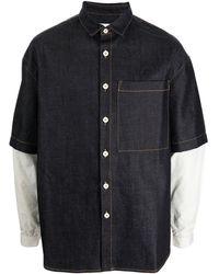Sunnei オーバーサイズ デニムシャツ - ブルー