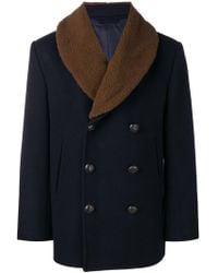 Brioni - Shearling Collar Coat - Lyst