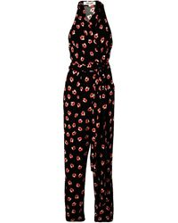 Diane von Furstenberg Mono cruzado con motivo floral - Negro