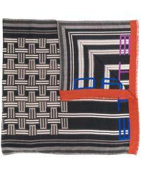 Etro Sjaal Met Geborduurd Logo - Zwart