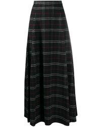 Woolrich Plaid-check Maxi Skirt - Black