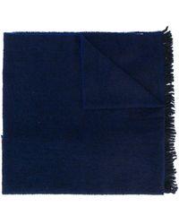 Destin Oversized Striped Scarf - Blue