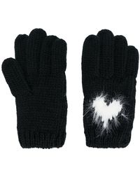 Twin Set - Heart Intarsia Gloves - Lyst