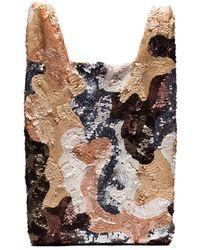 Ashish Multicoloured Sequin Patchwork Tote Bag - Multicolor
