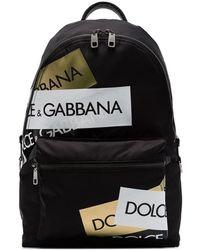 Dolce & Gabbana Rugzak Met Logopatch - Zwart
