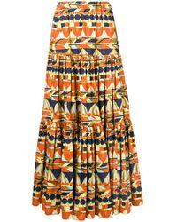 LaDoubleJ Geometric Printed Skirt - Желтый