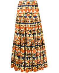 La DoubleJ Geometric Printed Skirt - Желтый
