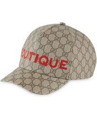 Gucci Boutique print baseball cap - Multicolore