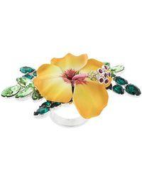DSquared² - Crystal-embellished Flower Ring - Lyst