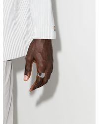 Tom Wood Серебряный Перстень Cushion - Металлик