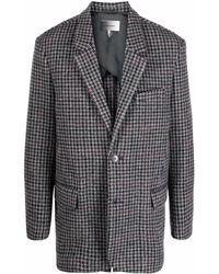 Isabel Marant Plaid-check Button Blazer - Grey