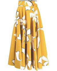 Gentry Portofino Floral-print Midi Skirt - Yellow
