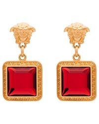 Versace - Medusa Gemstone Earrings - Lyst