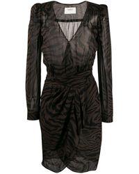 Ba&sh Saphir ラップドレス - ブラウン