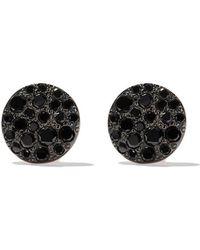 Pomellato - 18kt Rose Gold Sabbia Black Diamond Stud Earrings - Lyst