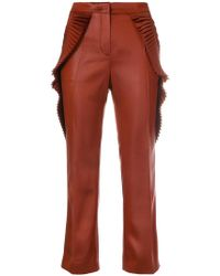 Marco De Vincenzo - Pleated-trim Cropped Trousers - Lyst