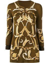 Hermès Blusa con logo - Marrone