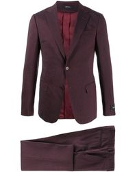 Z Zegna Single-breasted Two-piece Suit - Red