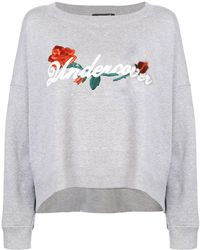 Undercover - Embroidered Curved Hem Sweatshirt - Lyst