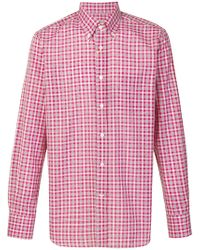 Canali - Checked Button-down Shirt - Lyst