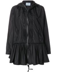 Prada - All Designer Products - Pleated Flare Jacket - Lyst