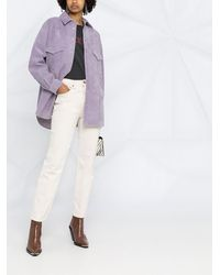 IRO Куртка-рубашка На Пуговицах - Пурпурный