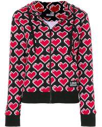 Love Moschino - Heart Print Hoodie - Lyst