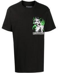 Pleasures ロゴ グラフィック Tシャツ - ブラック