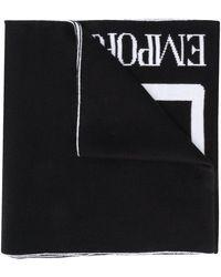 EA7 ライトウェイト ロゴ スカーフ - ブラック