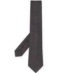 Kiton Cravate à motif géométrique - Noir