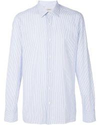 Z Zegna - Pinstripe Shirt - Lyst