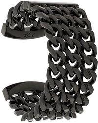 Karl Lagerfeld Triple chain cuff - Noir