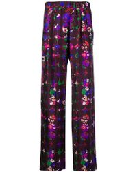 ODEEH - Floral Print Trousers - Lyst