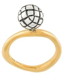 Bottega Veneta - Antique Intrecciato Ring - Lyst