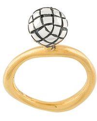 Bottega Veneta - Antique Intrecciato Ring - Lyst