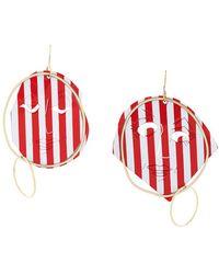 JW Anderson - Sculpted Striped Earrings - Lyst
