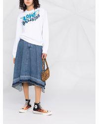 Love Moschino ロゴ スウェットシャツ - ブルー