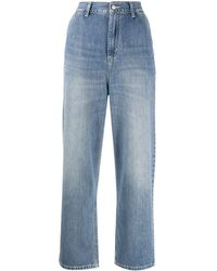 Carhartt WIP High-rise Wide Leg Cropped Jeans - Blue